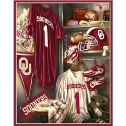 Collegiate Locker Room Fleece Panel University Of Oklahoma