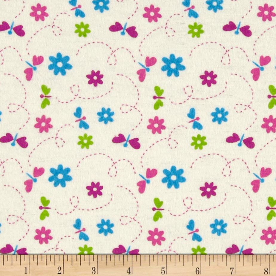 Flannel Dragonflies Ivory