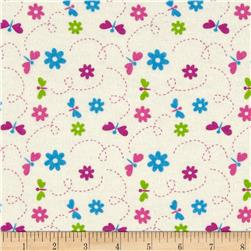 Flannel Dragonflies Ivory Fabric
