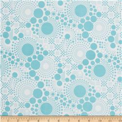 Riley Blake Pop Flannel Aqua Fabric
