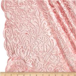 Telio Angelina Embroidery Mesh Lace Pink