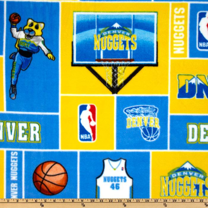 NBA Fleece Denver Nuggets Blocks Yellow