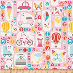 Riley Blake Girl Crazy Main Pink Fabric