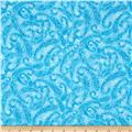 Winter Blues Paisley Swirls Light Blue