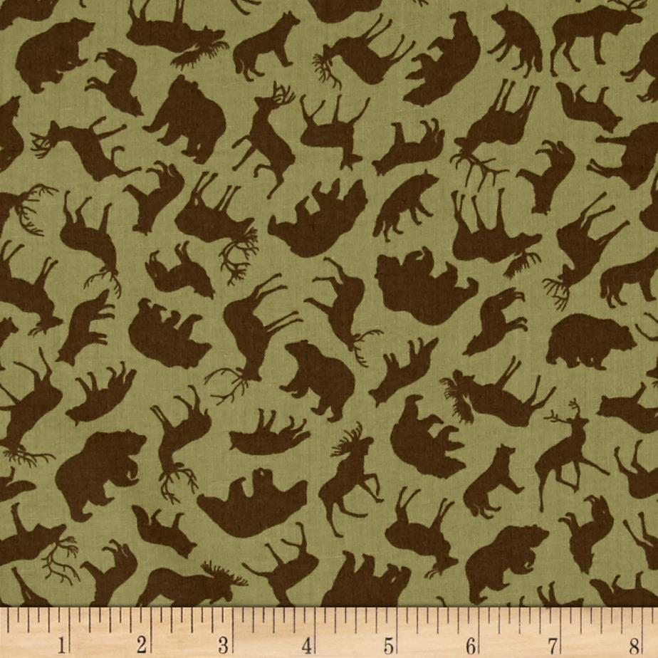 Kanvas Trail Mix Forest Animals Khaki