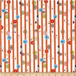 Kimmy's Sonata Stripe & Whirly Doo's Orange/Multi
