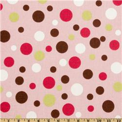 Premier Prints Spirodots Brown/Pink