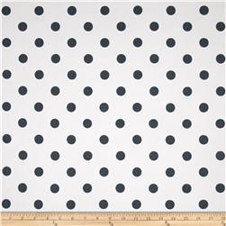 Premier Prints Polka Dot Twill White/Gunmetal
