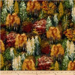 Kaufman Shades of the Season Metallic Forest Autumn