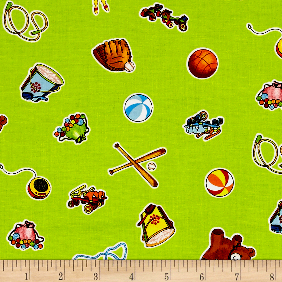 Image of Wee Play Toys Green Fabric