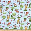 Comfy Flannel Forest Animals Blue
