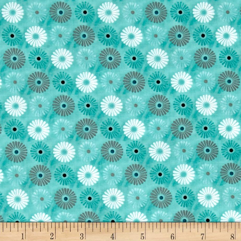 Isabella Flowers Allover Teal