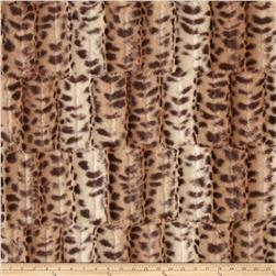 Minky Fancy Puma Soft Cuddle Beige/Brown Fabric