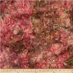 Bali Batik Handpaints Tapestry Carnation