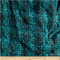 Polyester Jersey Knit Grid Print Turquoise