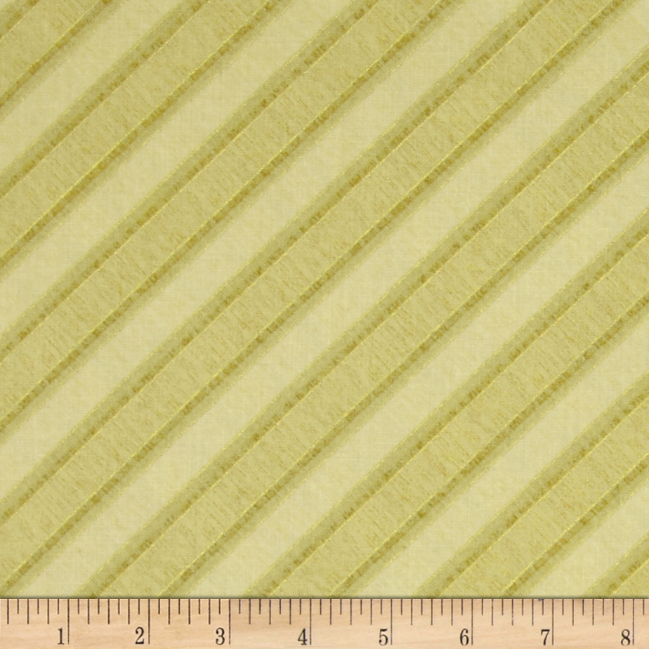 Holiday Elegance Metallic Diagonal Stripe Tan Fabric
