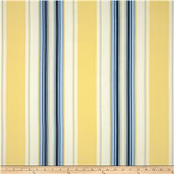 Duralee Home Claires Stripe II Twill Blue/Yellow Fabric