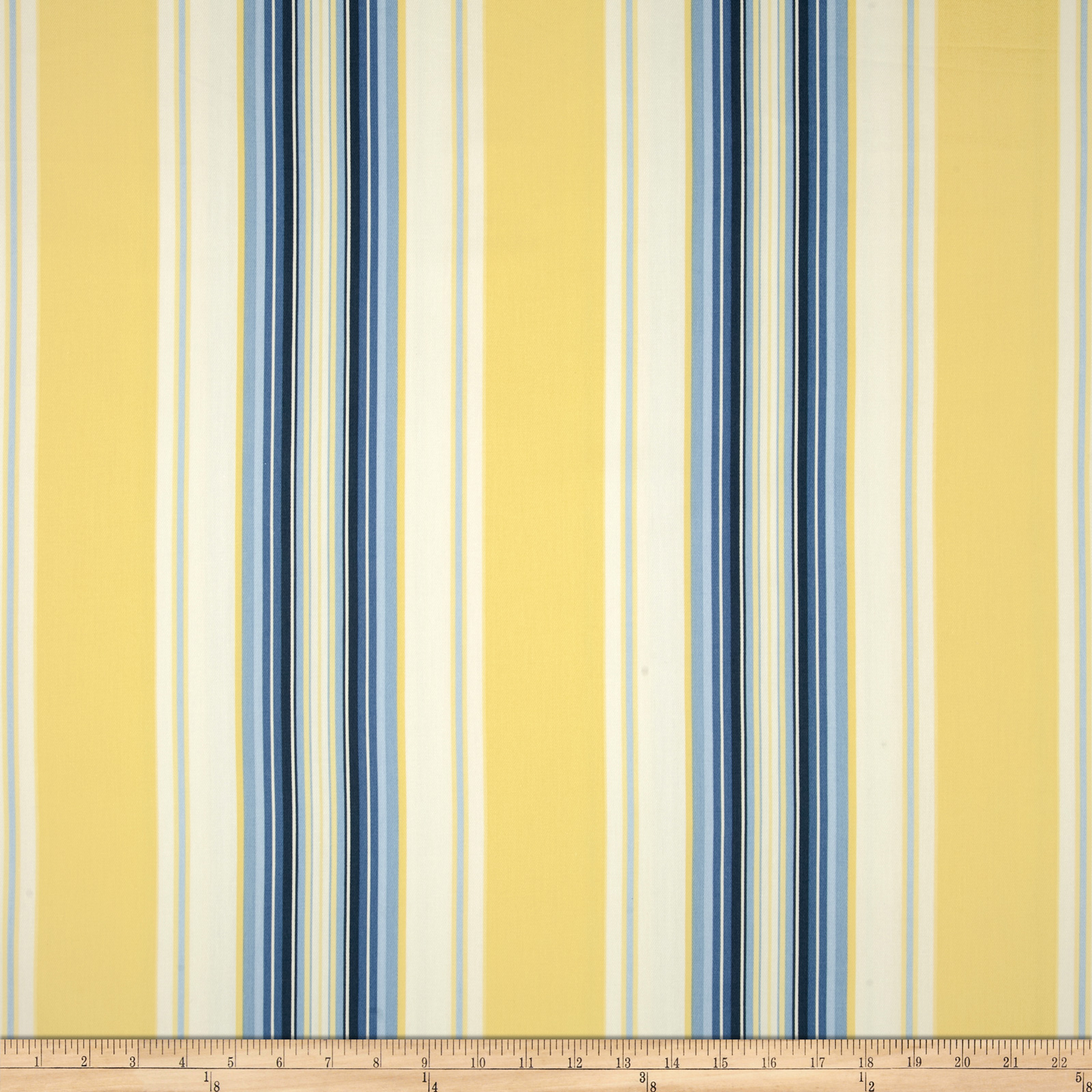Duralee Home Claires Stripe II Twill Blue/Yellow