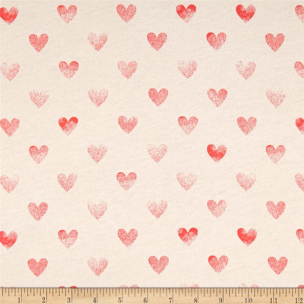 Cotton blend children 39 s jersey knit hearts discount for Children s cotton dress fabric