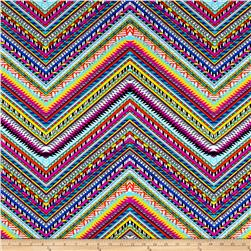 Ethnic Zig Zag Printed Athletic Knit Multi