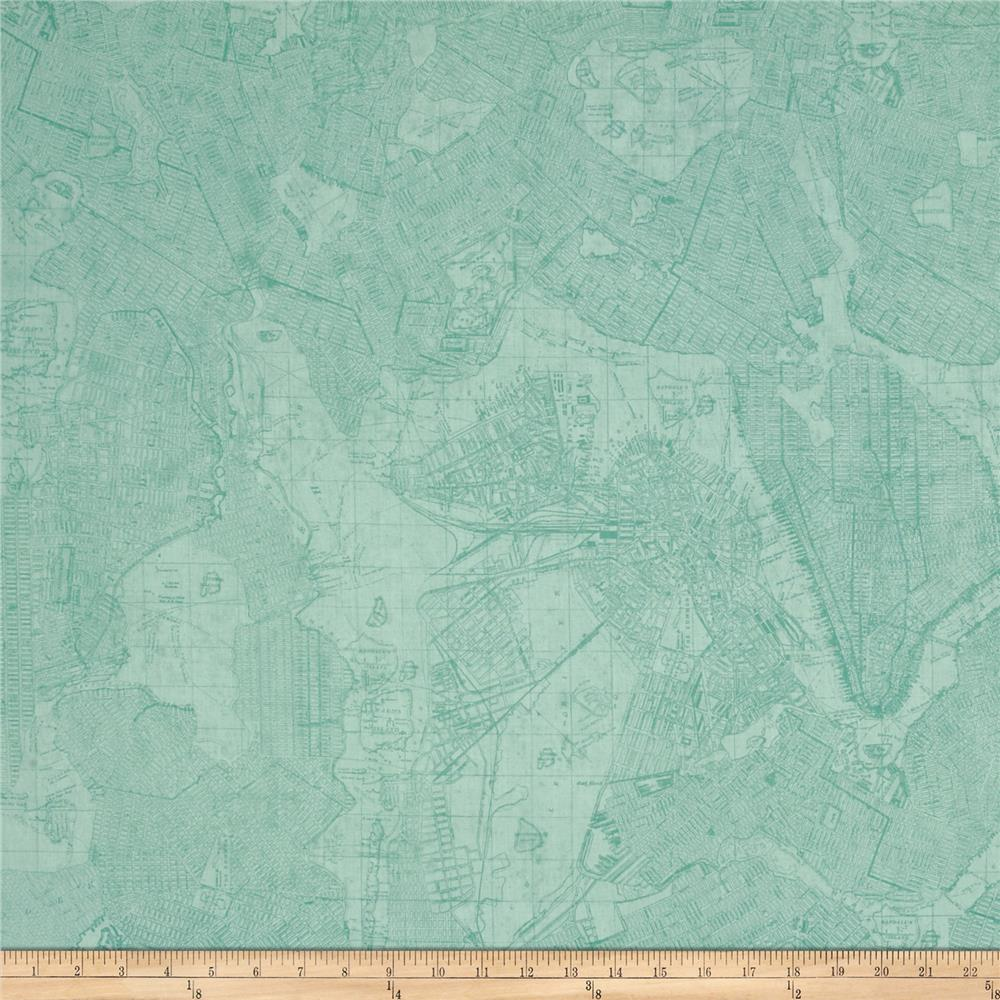 Life... Enjoy The Ride Map Toile Teal