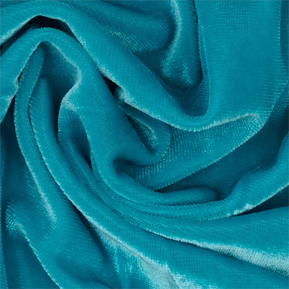 Stretch velvet knit turquoise discount designer fabric for Cheap cloth material
