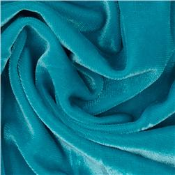 Stretch Velvet Knit Turquoise Fabric
