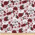 Floral Perspective Large Packed Florals Scarlet