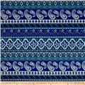Liverpool Double Knit Paisley Royal/Teal