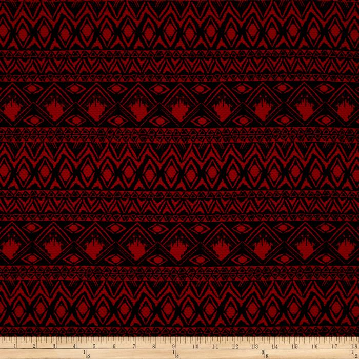 Double Knit Aztec Diamond Red