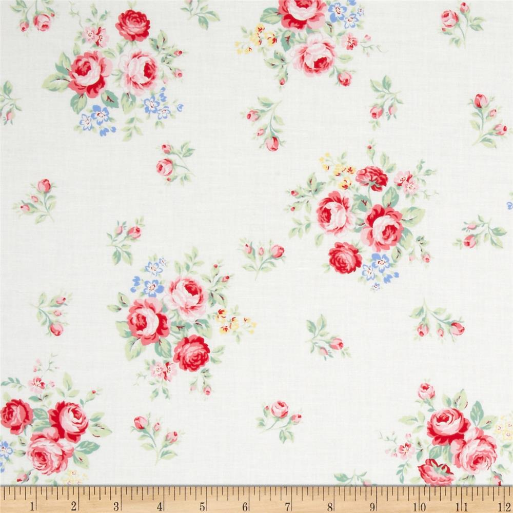 Lecien Flower Sugar Small Floral White