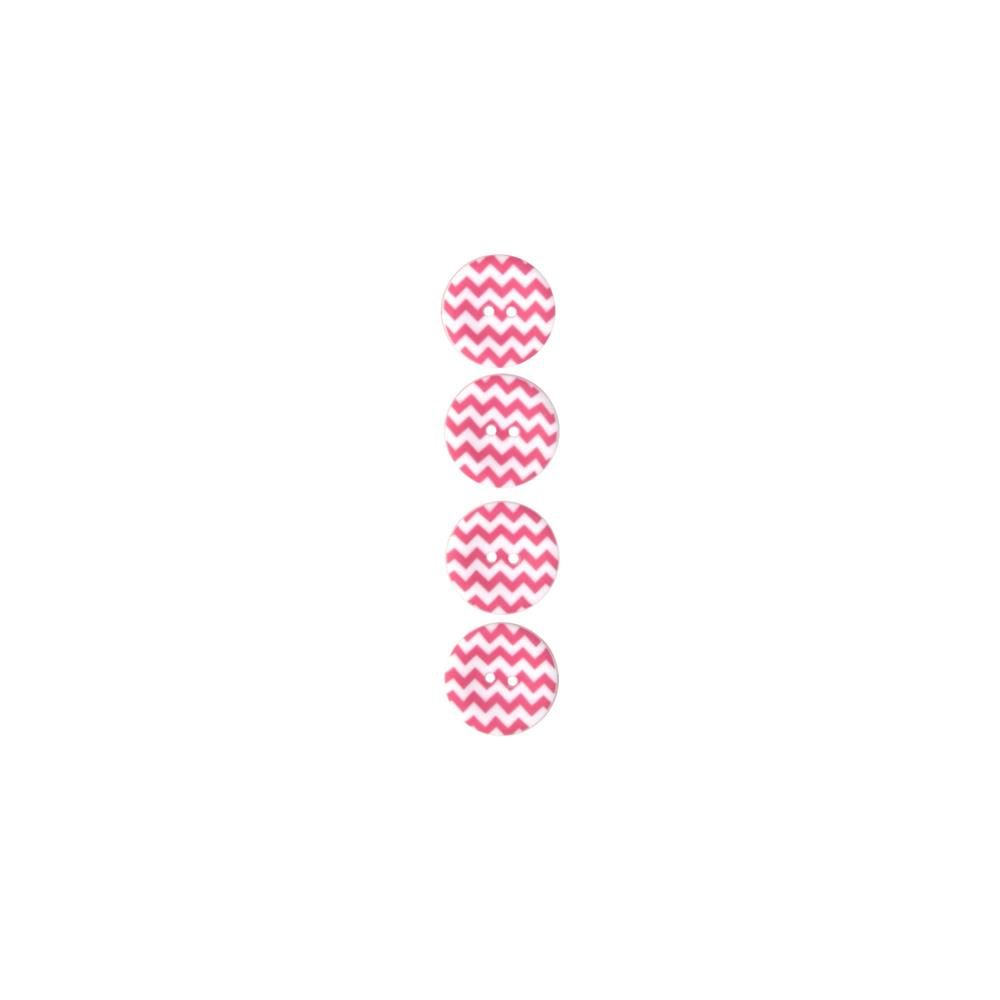 "Riley Blake Sew Together 1"" Matte Button Chevron Hot Pink"