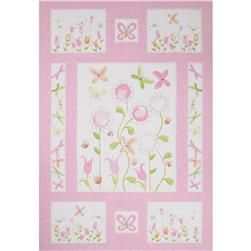 Susy Sunflower Panel Pink