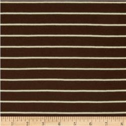 Yarn Dyed Jersey Knit Stripes Brown/Cream