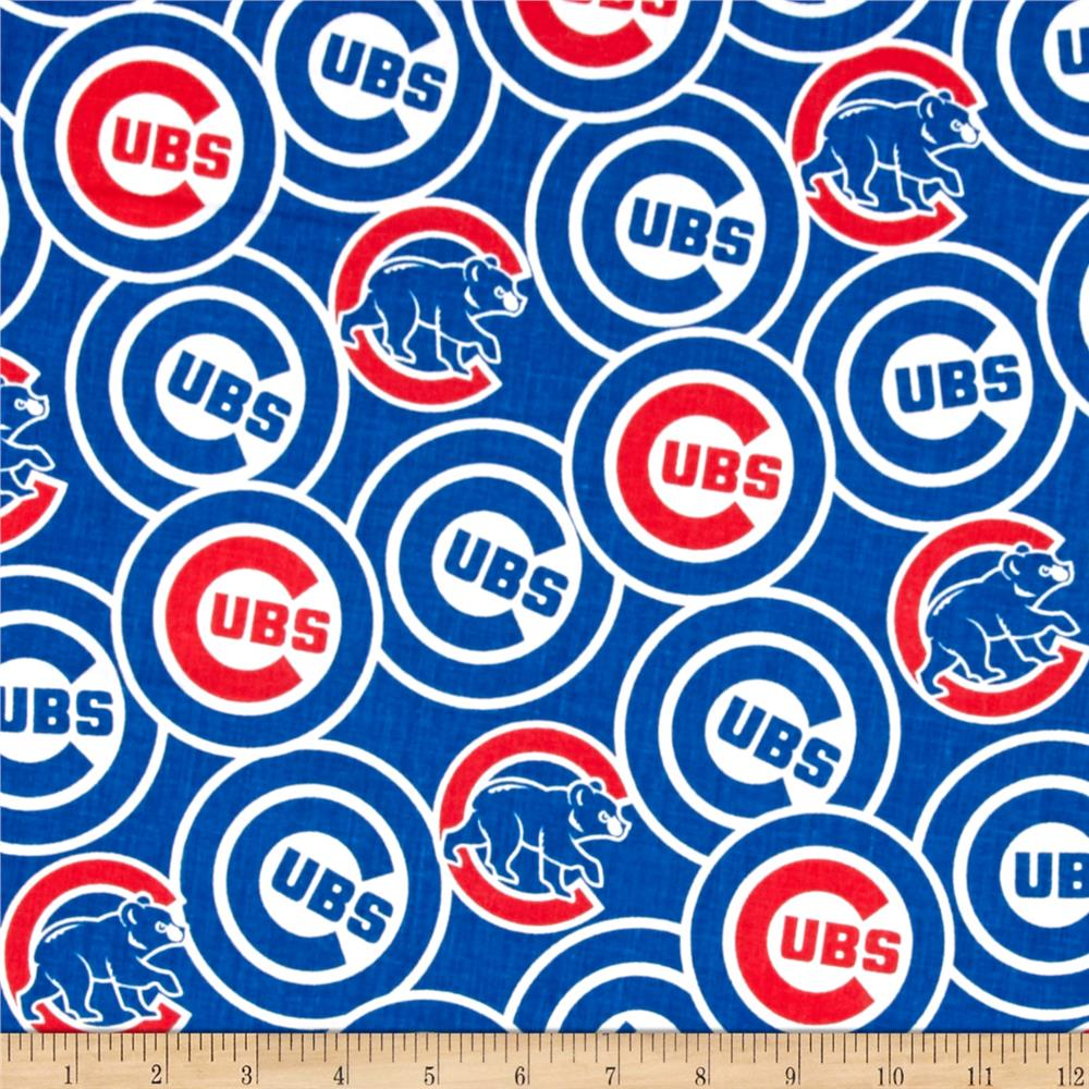 Chicago Cubs Cotton Broadcloth Blue
