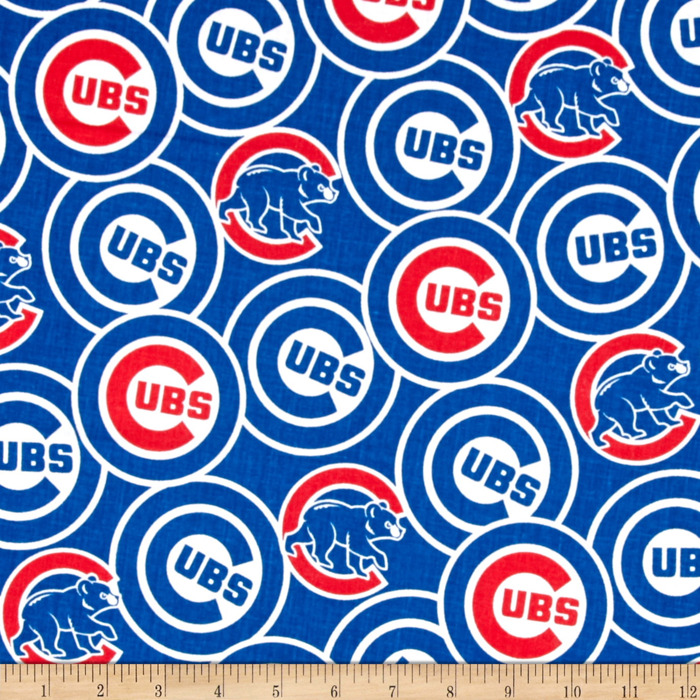 Chicago Cubs Cotton Broadcloth Blue Fabric by Fabric Traditions in USA