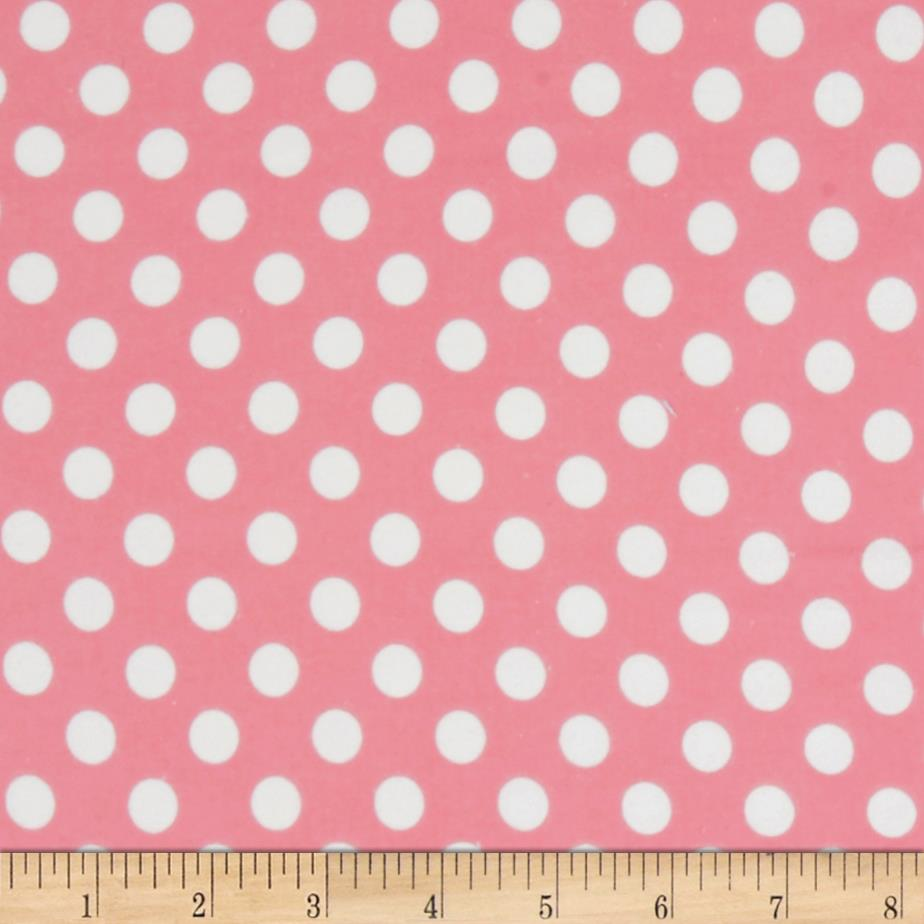 Kimberbell Little One Flannel Too! Dots Pink White