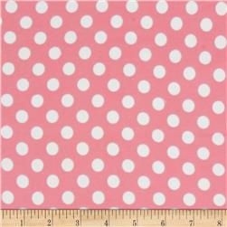 Kimberbell Little One Flannel Too! Flannel Dots Pink White