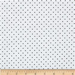 Stretch Rayon Jersey Pindot White/Brown