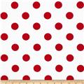 Broadcloth Blend Dots White/Red