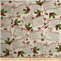 Robert Kaufman Holly Jolly Christmas Recipe Cards Ivory