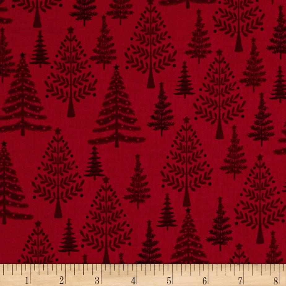 Scandi 3 Trees Red