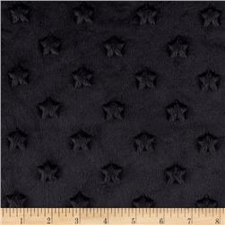Minky Star Dot Black