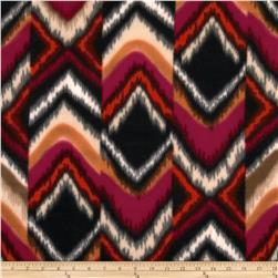 Fleece Striped Ikat Purple