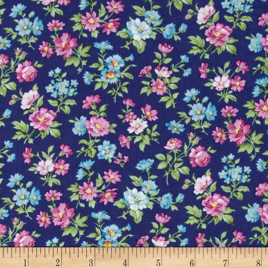 Calico Collection Floral Blue/Pink/Green - Discount Designer ...