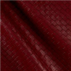 Faux Leather Tile Basketweave Marinara