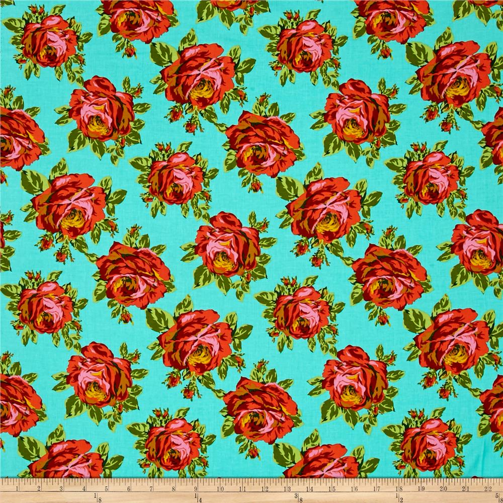 Amy Butler Eternal Sunshine Rose Lore Sky Fabric By The Yard