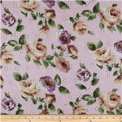 Faux Eyelet Floral Brown/Purple