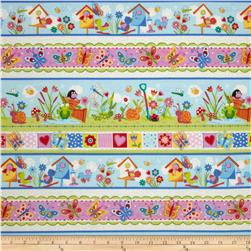 Birds, Bugs, & Flowers Large Stripes Multi