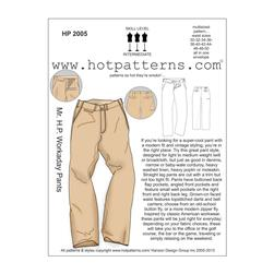 Hot Patterns Mr. H.P. Workaday Pants Pattern